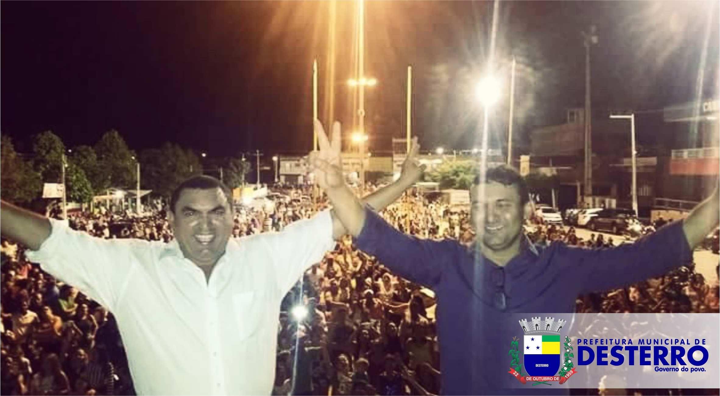 Dilson de Almeida e Valtércio de Almeida são empossados prefeito e vice para a gestão 2017-2020