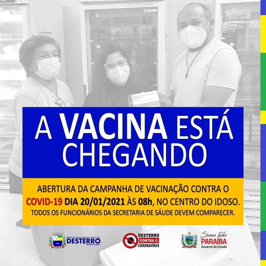 Abertura da campanha de vacinação contra o Covid-19