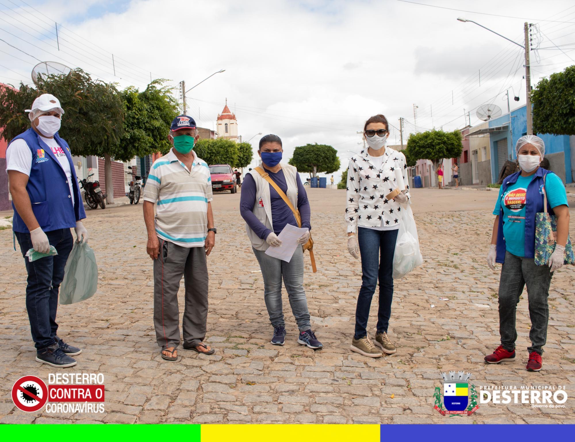 Agora é a vez de Tataíra. Prefeitura realiza distribuição de máscaras e álcool em gel para população do distrito.
