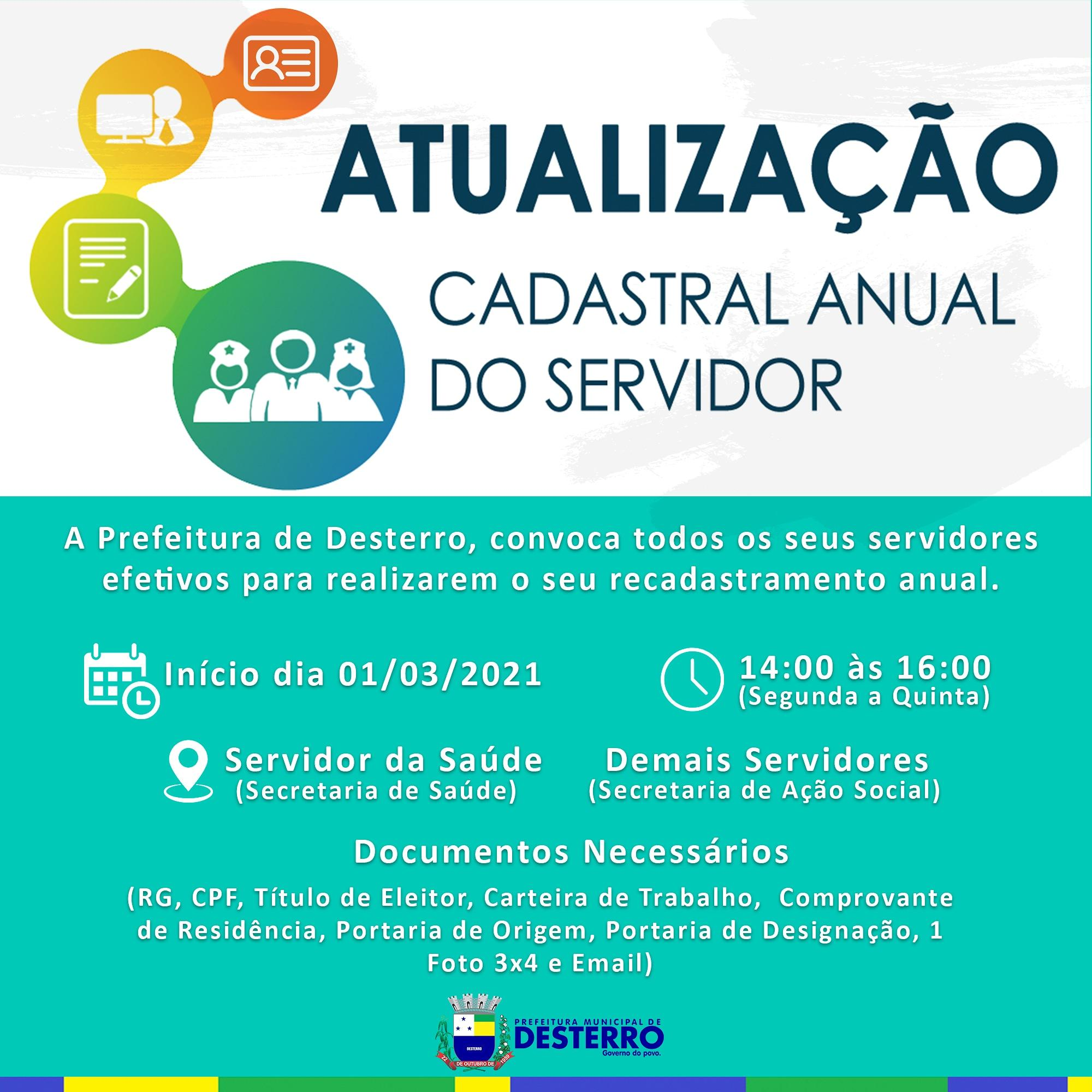 ATENÇÃO SERVIDOR EFETIVO PARA O PRAZO DE ATUALIZAÇÃO DO SEU...