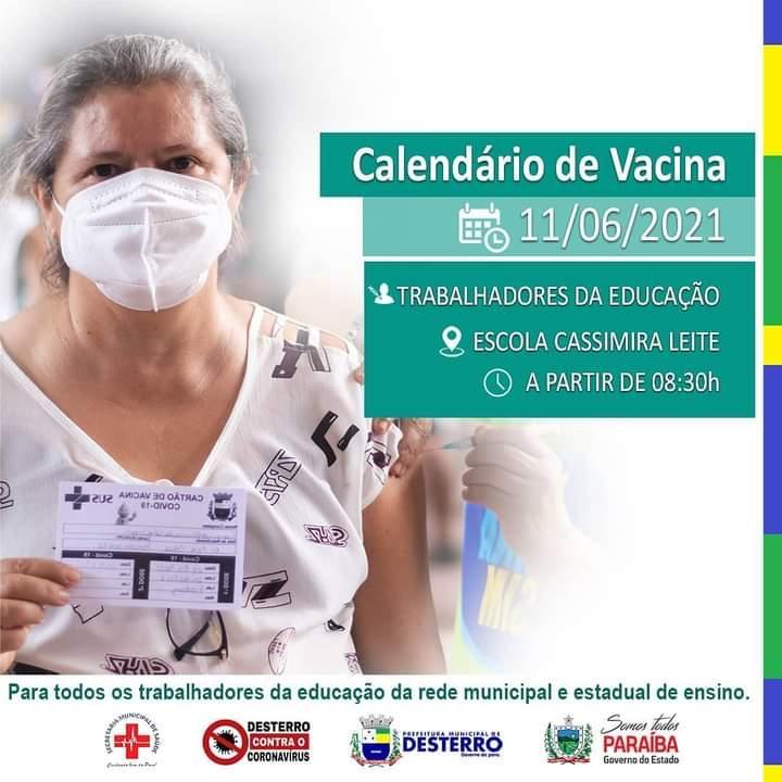 Calendário de Vacinação 11/06/2021