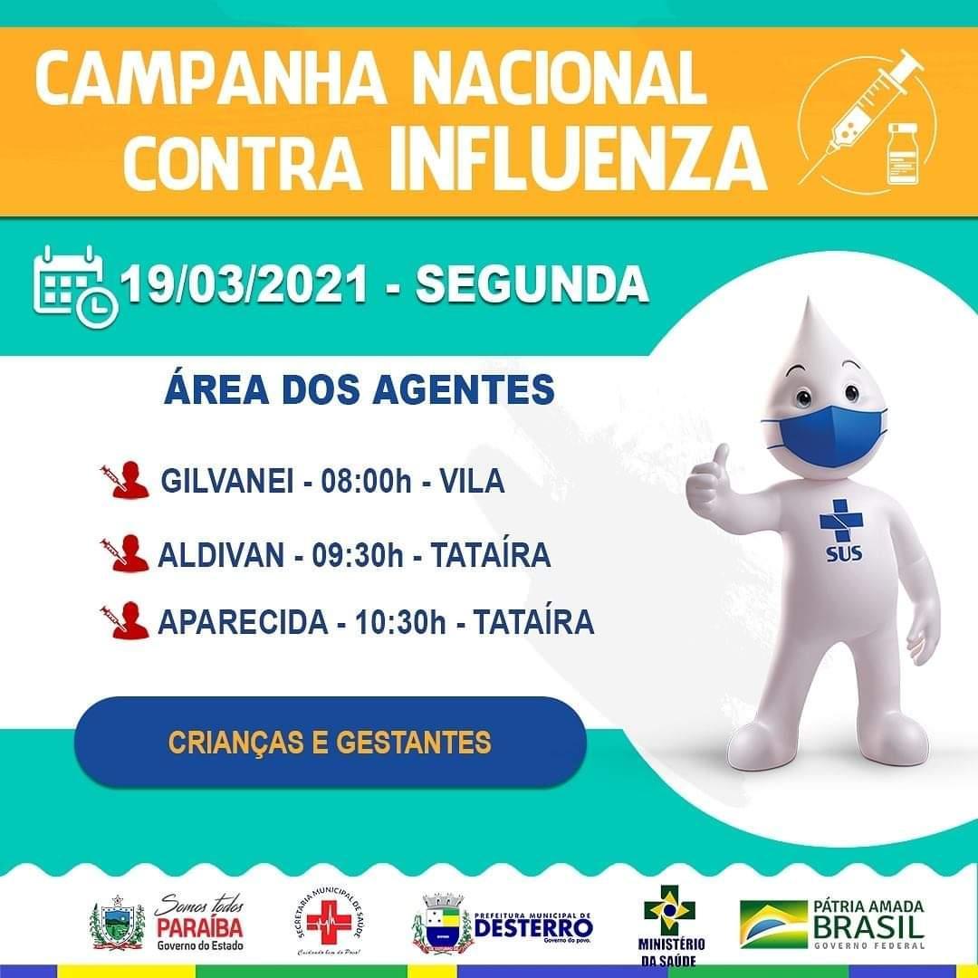 Calendário de Vacinação Influenza 19/04/2021