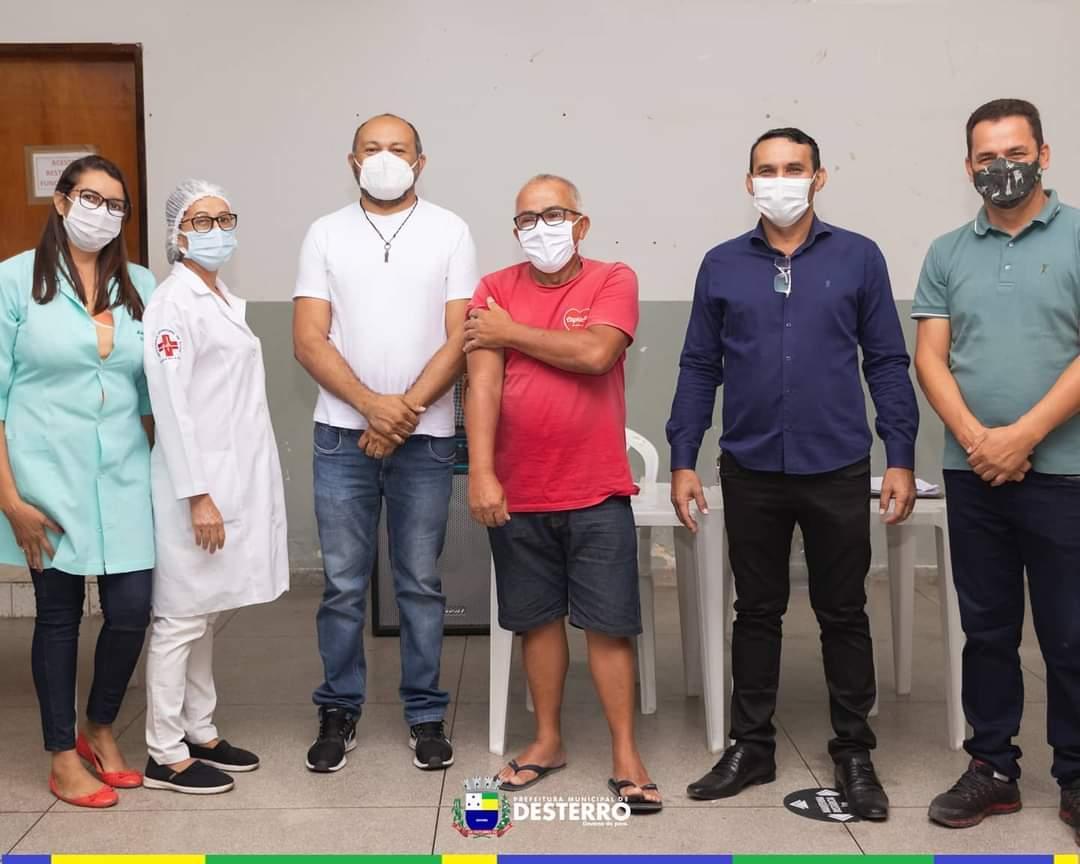Município de Desterro dá início a vacinação contra Covid-19