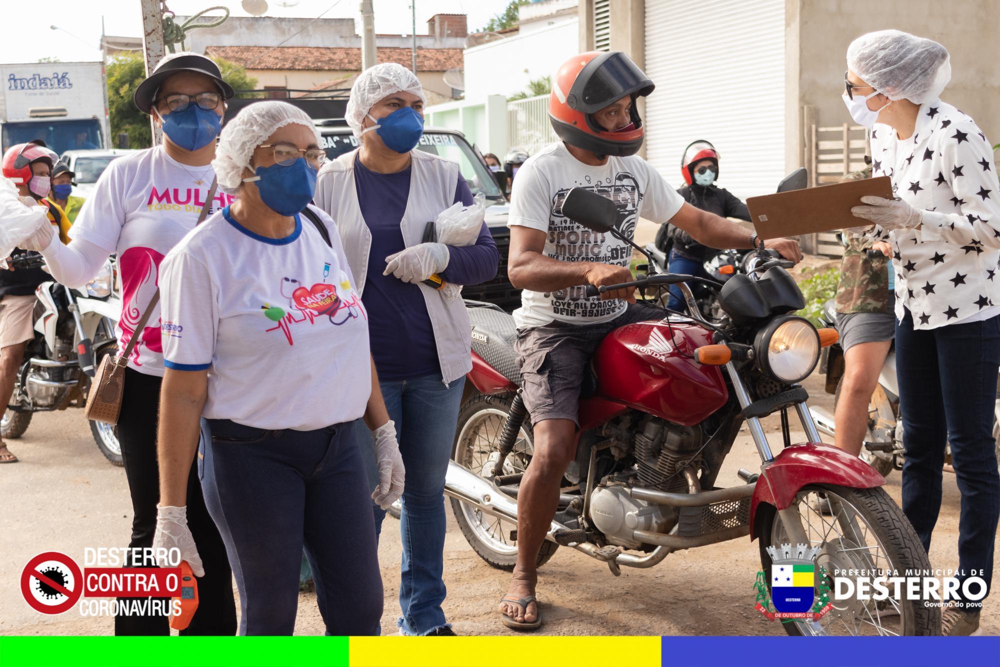 Município implementa barreira sanitária em dias de maior movimento