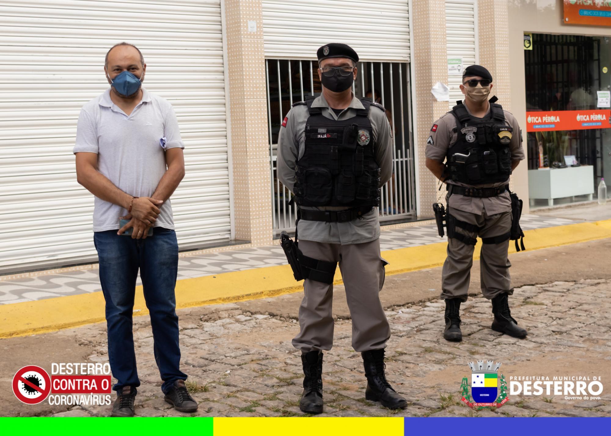 Município realiza força tarefa contra o Covid-19 com apoio da 4ª Companhia de Polícia