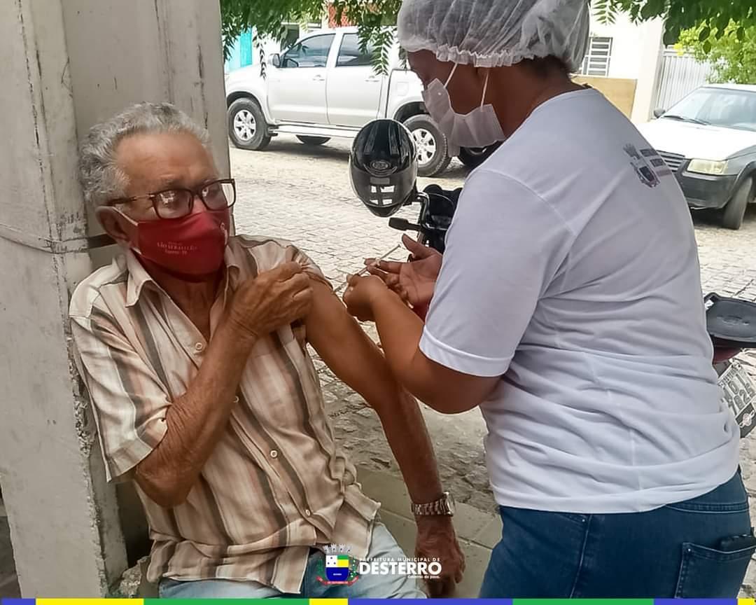 Município segue vacinando contra o Covid-19, agora é a vez dos idosos acima de 80 anos.