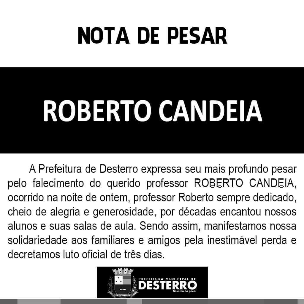 Nota de Pesar Professor Roberto