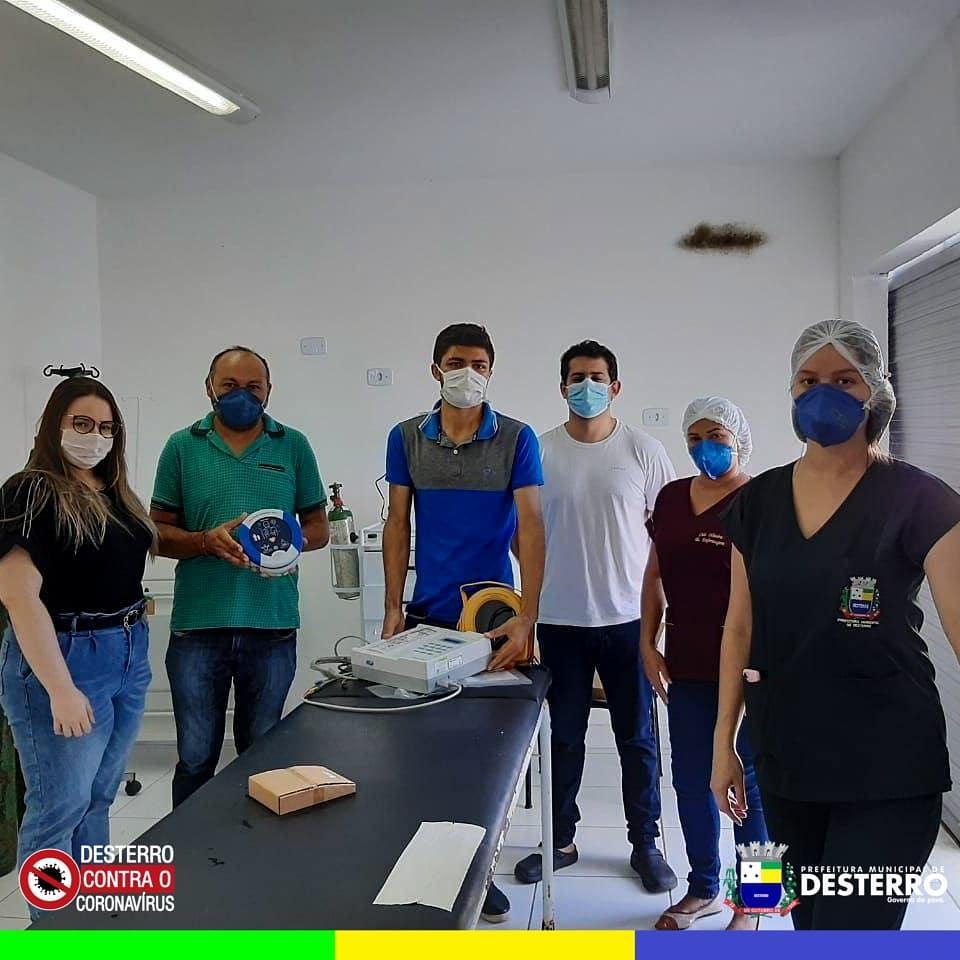 Prefeitura municipal de Desterro adquiriu equipamentos de DER e Eletrocardiógrafo